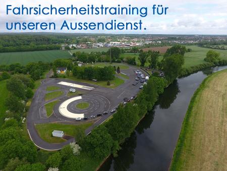Luftbild vom Verkehrsübungsplatz