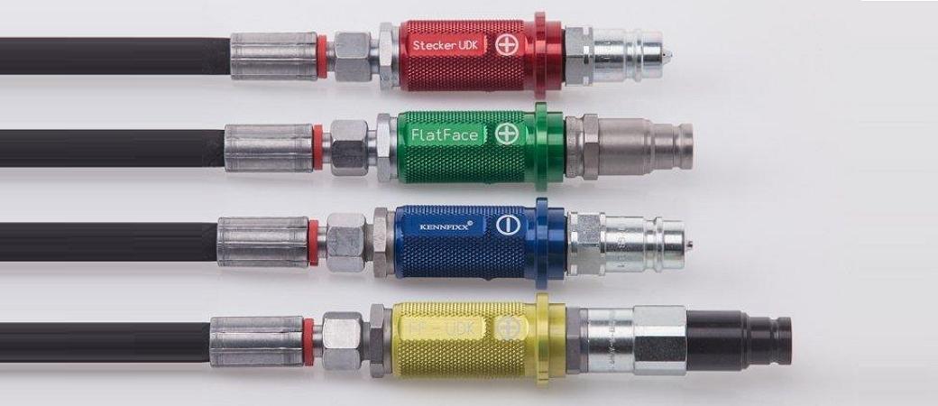 KENNFIXX Schlauchgriffe mit verschiedenen Hydrauliksteckern